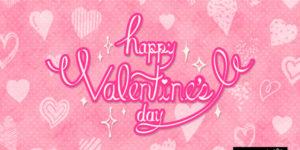 【無料素材イラスト】ピンクでハートでカジュアルポップ!happu valentine!!【jpg/png/AI(ver.10)】