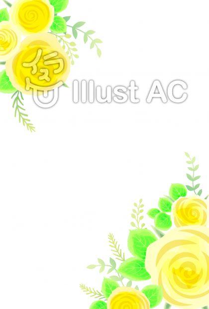 バラの飾り枠(黄)